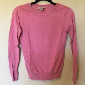 LOFT Outlet pink long sleeve crew sweater